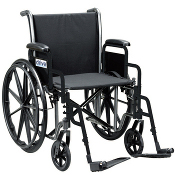 This is an example of a traditional manual wheelchair.