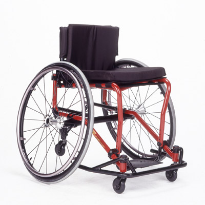 This is a typical sports wheelchair.