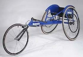 This is a racing wheelchair, which has a much longer base.