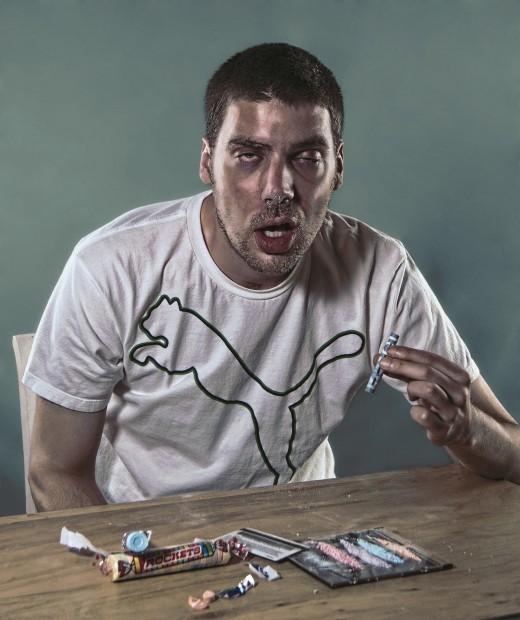 An addict man.