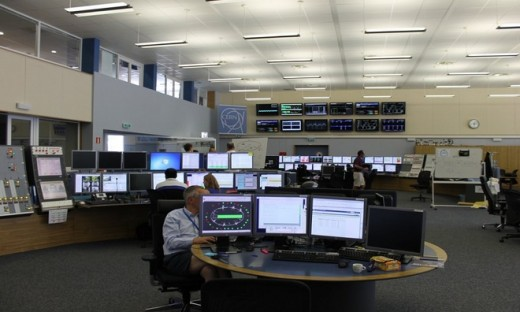 The control center is the most important place of the LHC. Many of the screen show the important information to control and operate the Collider's operation.