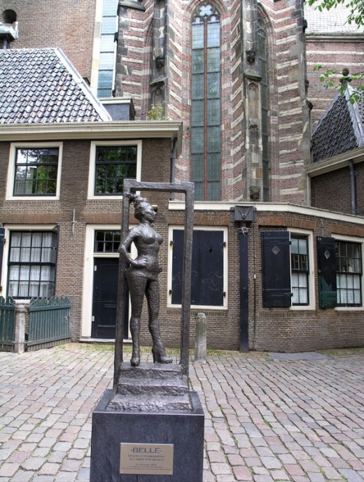 "Most especially, in the present, you will admire a statue named Belle, with a girl standing doorway. Below the statue are carved an inscription is worth to ponder ""Please respect all those who practise prostitution around the world""."