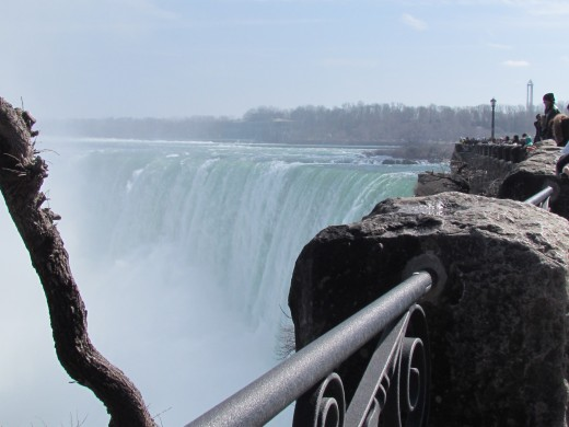 Niagara Falls, is awe inspiring with its power and force.