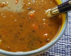 Simple bean and vegetable soup recipe 100% vegetarian