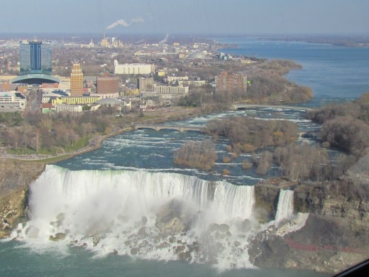 A view from the restaurant of the United States side of the Falls.