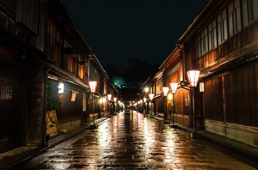 Traditional teahouses in Kanazawa.