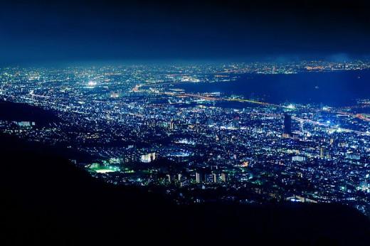 View of Kikuseidai from Mount Maya, Kobe.