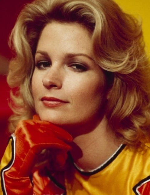 Hall as her Electra Woman persona in the 70s live action Saturday morning show!