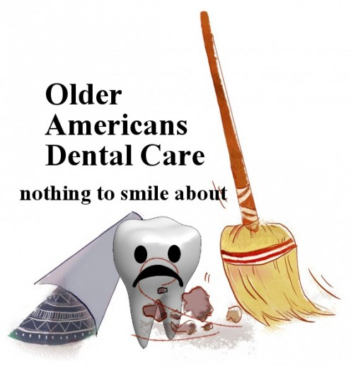 """Older Americans Dental Care nothing to smile about"" photo compiled by R. G. Kernodle from source materials"