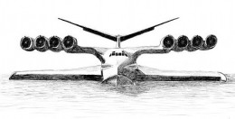 The Caspian Sea Monster drawing