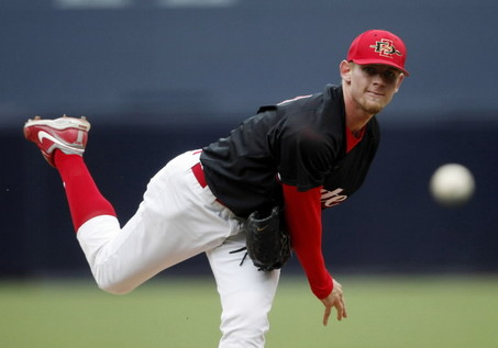 Stephen Strasburg with San Diego State University.