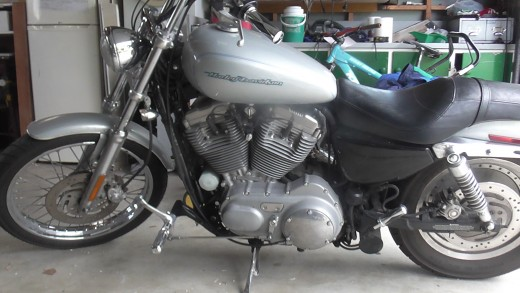 "Harley Sportster with 6"" extended Forward Controls"