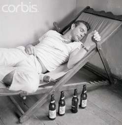 Play a prank on a buddy. Place empty beer cans or bottles near his bed or cot and when he wakes up, he will freak-out thinking that he has drank all of this beer. Note: This young man is Sean Connery.