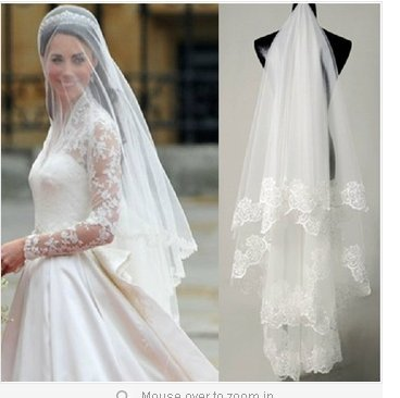 This veil can be purchased at Amazon.com it is only for dollars, but is a bit thinner than the picture shown.  It is only 3 to 4 dollars and is generally well liked.