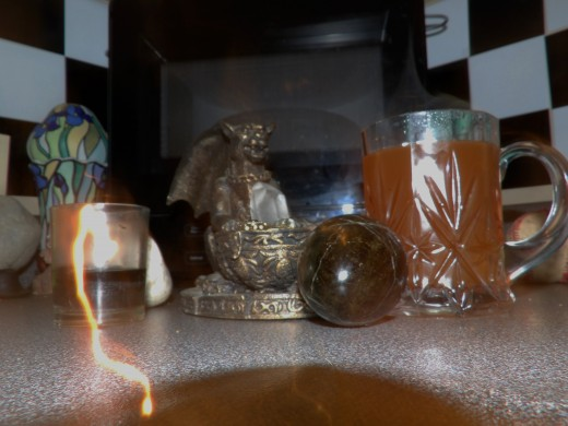 I have no explanation but got many excited comments on this new moon altar photo.