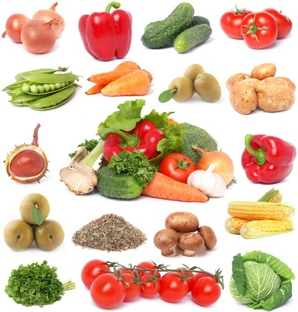A selection of healthy vegetables