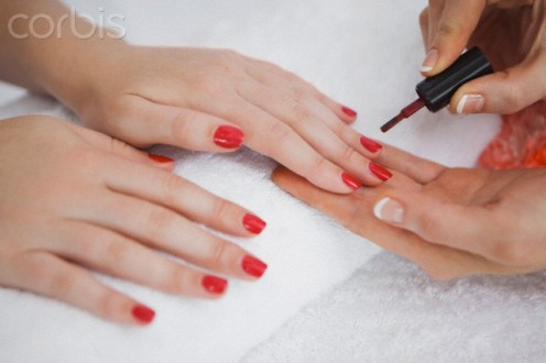 Women who wear red fingernails have to take good care of them in order for them to always look good.