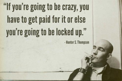 The late Dr. Hunter S. Thompson.