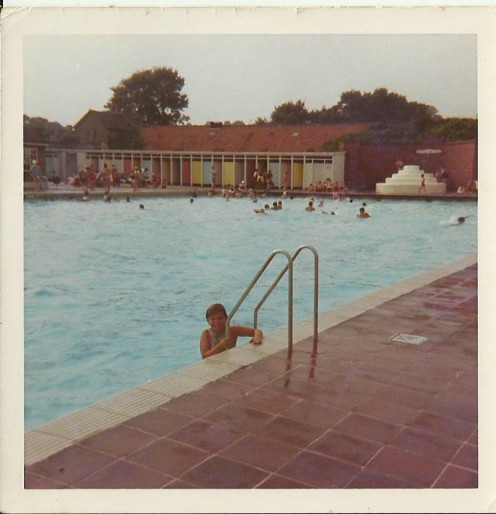 The pools I learned to swim in were just basic rectangular pools with no fancy water-slides!