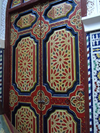 Moroccan inlaid doors are very beautiful