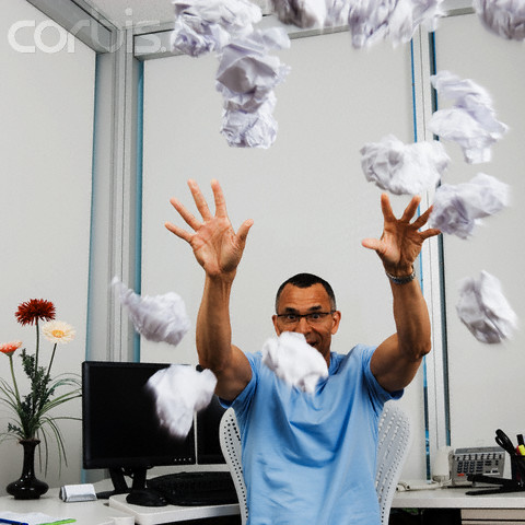 Throwing objects like  paper can distract  employees and can  cause accidents.