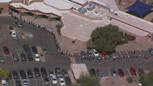 Polling place at Scottsdale and Cactus roads, Phoenix