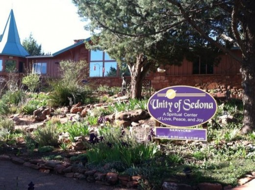 Unity of Sedona gardens and grounds