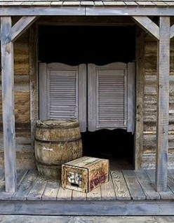 Through these swinging saloon doors, a man could find a friendly saloon girl to keep him company.