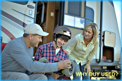There are many reasons why buying a used RV might be a good idea.