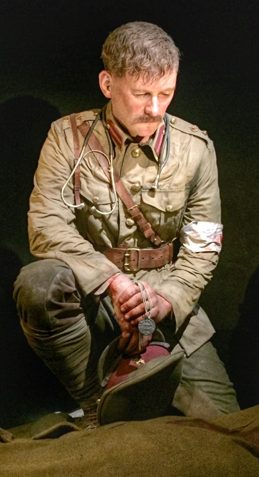 One of the model soldiers in Te Papa Museum, Wellington, New Zealand