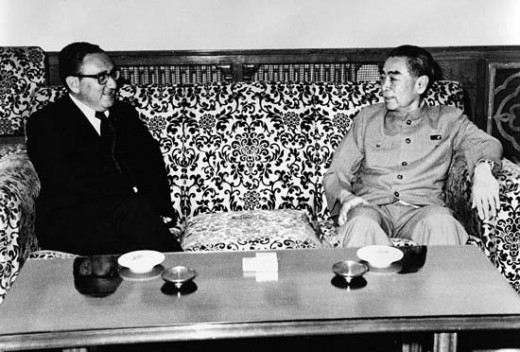 Henry Kissinger pictured here with Chinese Premier Zhou Enlai