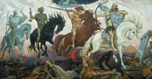 """The Four Horsemen of the Apocalypse"" - Viktor Vasnetsov (1848-1926)"