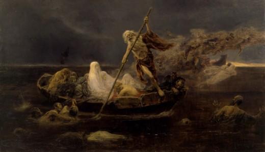"""The Barque of Charon"" - Jose Benlliure y Gil (1858-1937)"