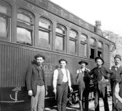 A Railroad Baggage Car in 1891