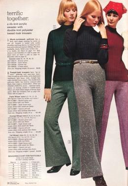 High-waist slacks?