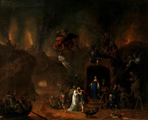Orpheus and Eurydice in the Underworld - Pieter Fris (1627 - 1706)