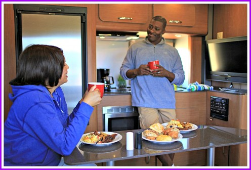 The inside of an RV should be clean, comfortable and well-designed.