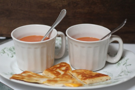 Tomato Soup and Grilled Cheese Sandwich