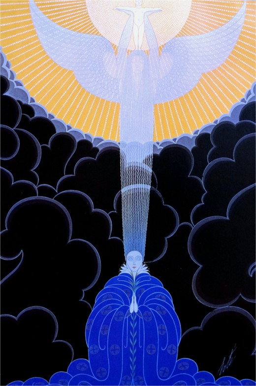 """The Annunciation"" by Erte (1892-1990)"