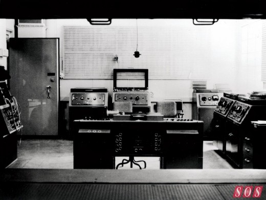 Abbey Roads' Studio Two control room, featuring a REDD mixing console.