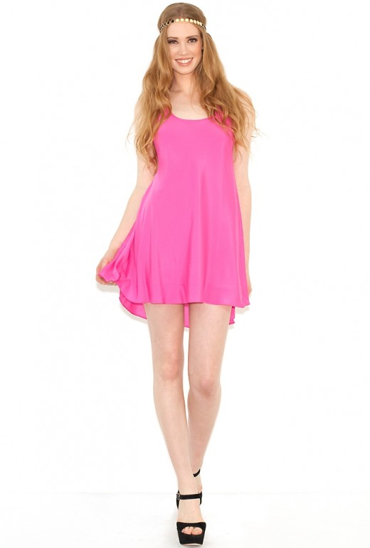 Naven babydoll dress in Pop Pink,