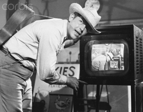 "Andy Griffith as ""Larry 'Lonesome' Rhodes,"" in the film, ""A Face in The Crowd."""