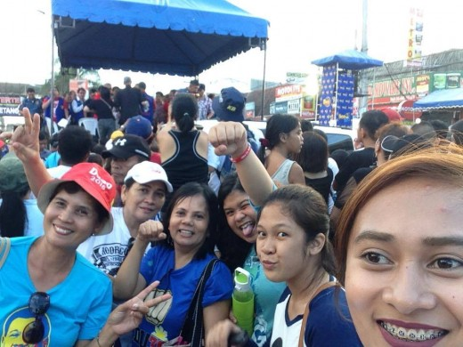 Duterte supporters in a rally in Manila, March 2016