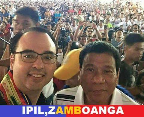 Cayetano and Duterte in a Zamboanga sortie.