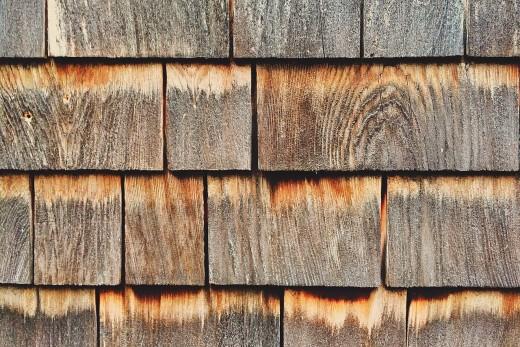 A wooden siding.