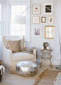 Great use of metallic framing, bringing more light into the room and adding a glamorous feel.