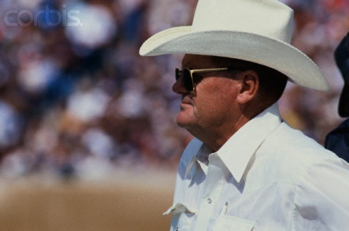 "This is Bum Phillips who is not a ""bum,"" but a former head coach in the NFL."