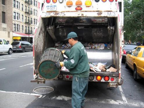 Sanitation workers.