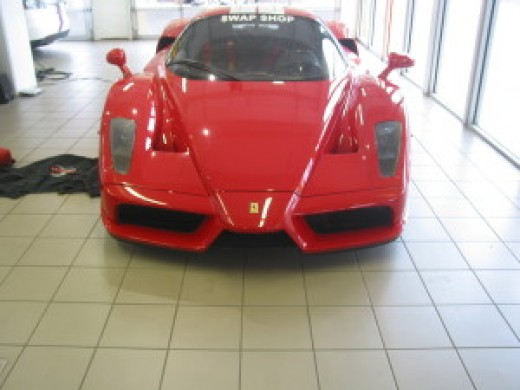 Ferrari on display at the Swap Shop.