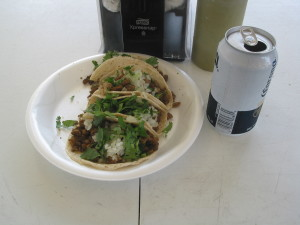 Delicious street tacos served by Las Reynas.